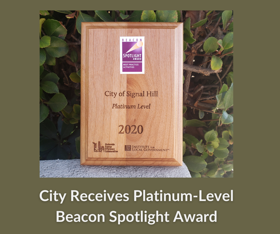 City Receives Platinum-Level Beacon Spotlight Award