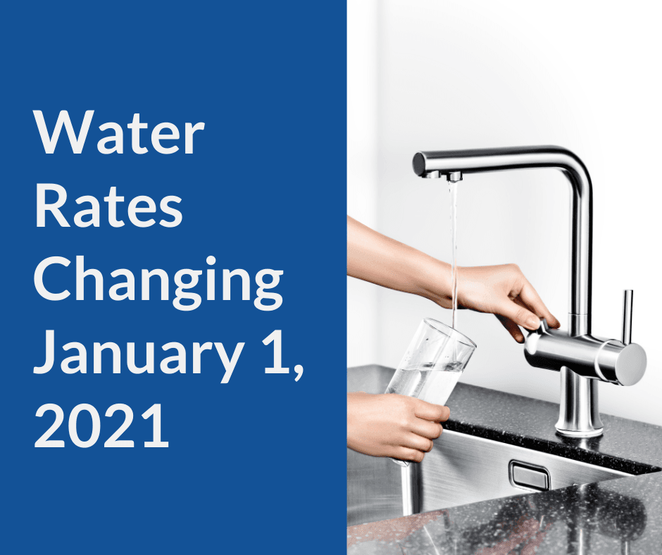 Water Rate Change Jan 2021