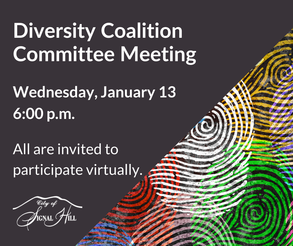 DCC Virtual Meeting January 13 6 PM Community is Welcome