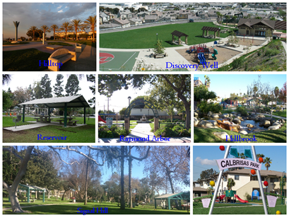 Collage of park images