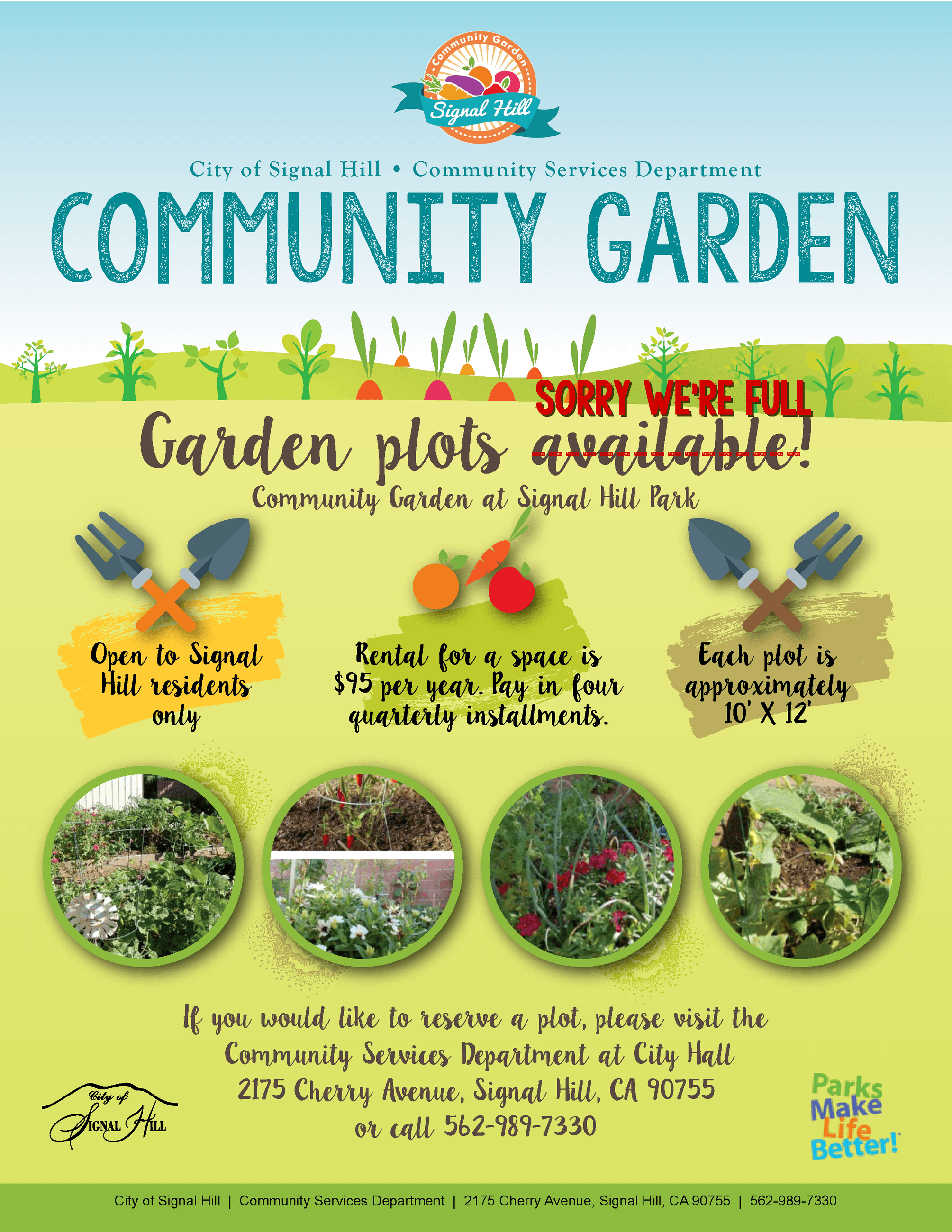 Sorry Full - Community Garden Flyer 2018