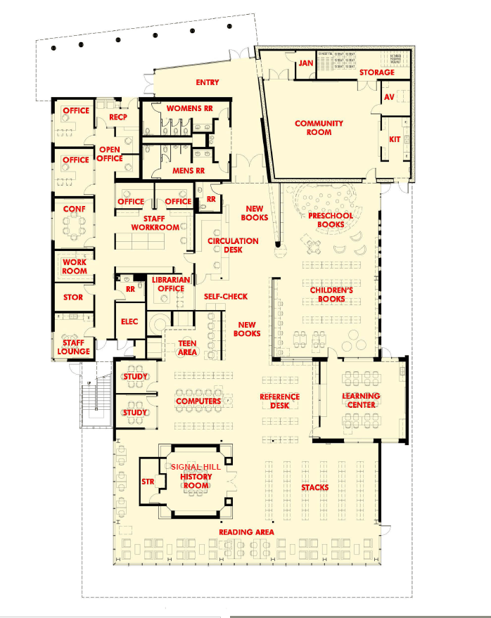 New Library Interior Map