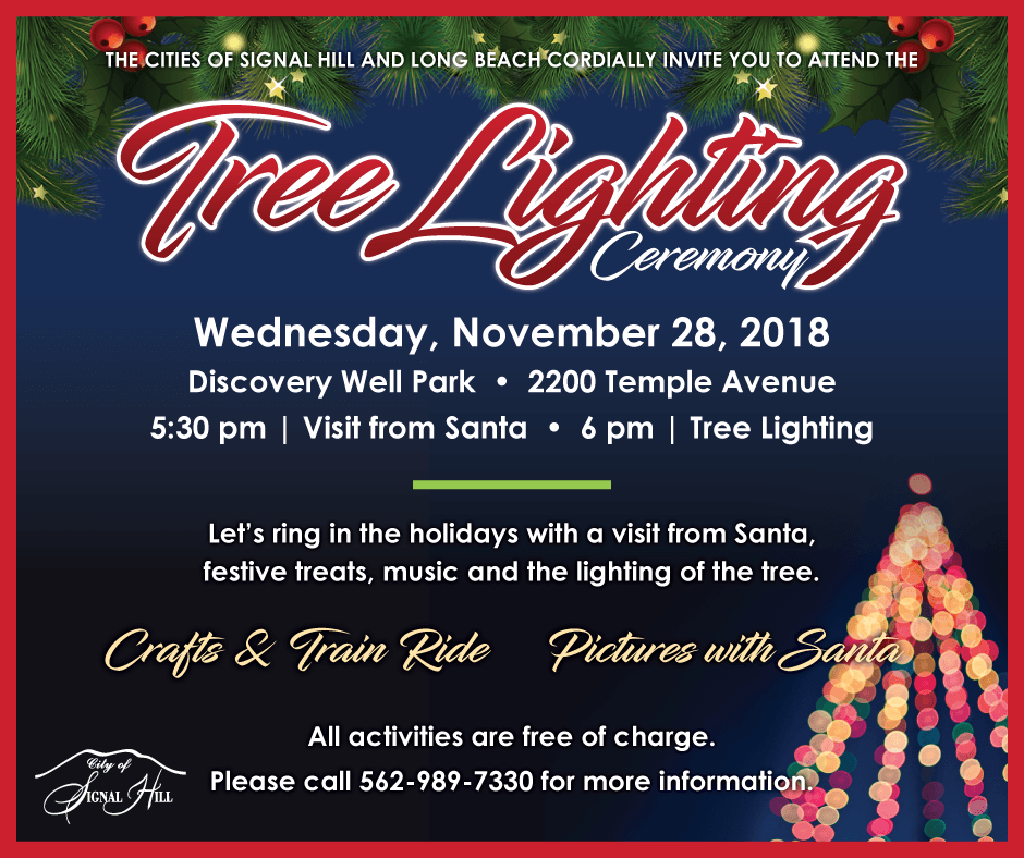 2018 Tree Lighting Ceremony November 28 Discovery Well Park