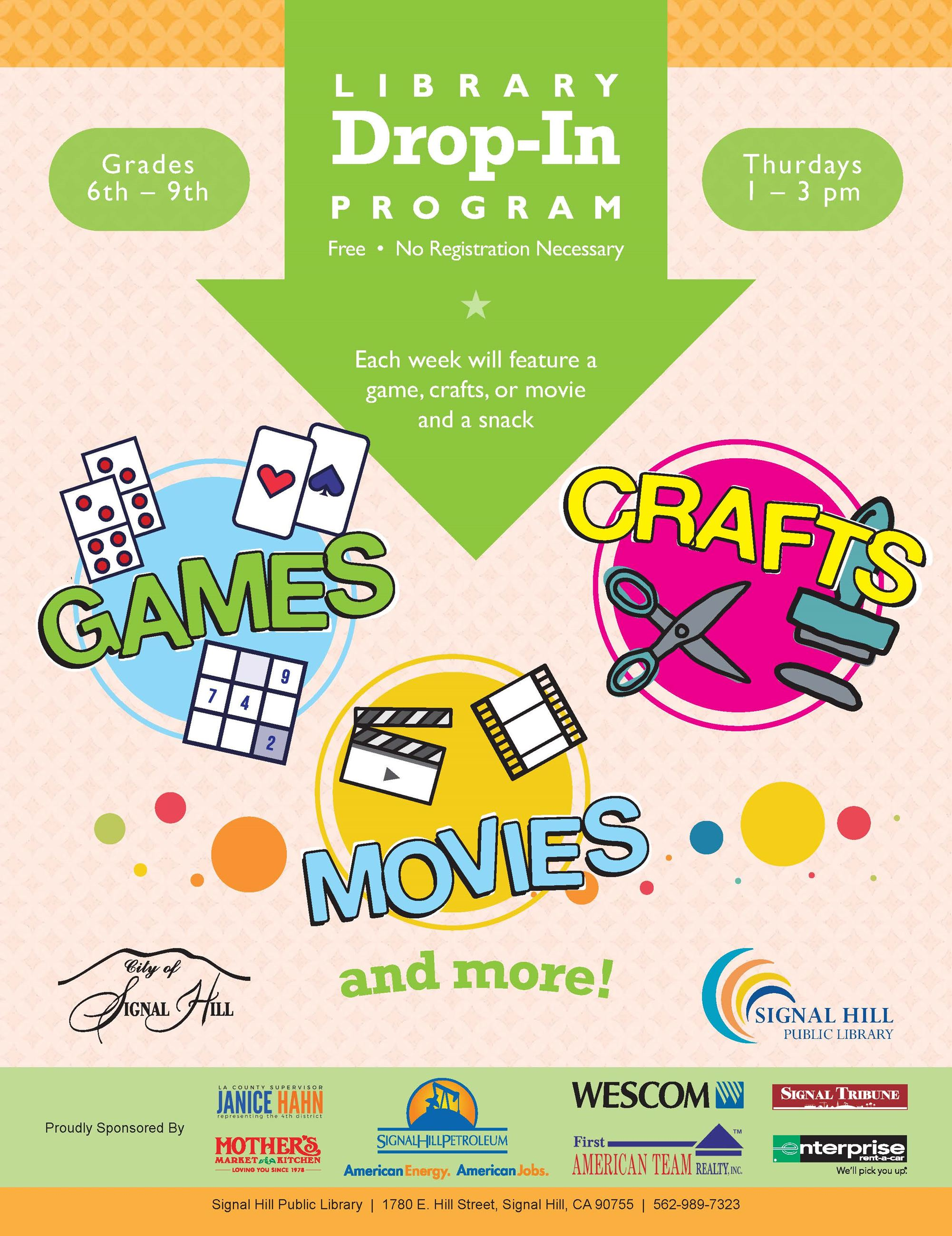 2019 Library Drop In Program Summer