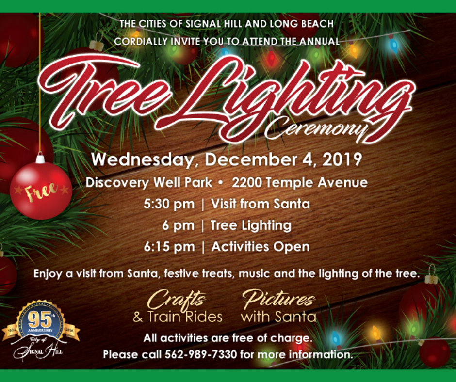 Tree Lighting Wednesday December 4 2019