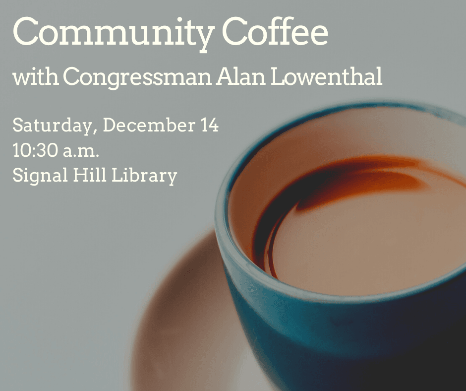 Community Coffee with Congressman Alan Lowenthal