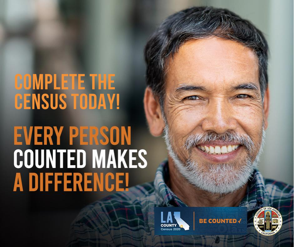 Complete the Census Today. Every Person Makes a Difference. Smiling Man.