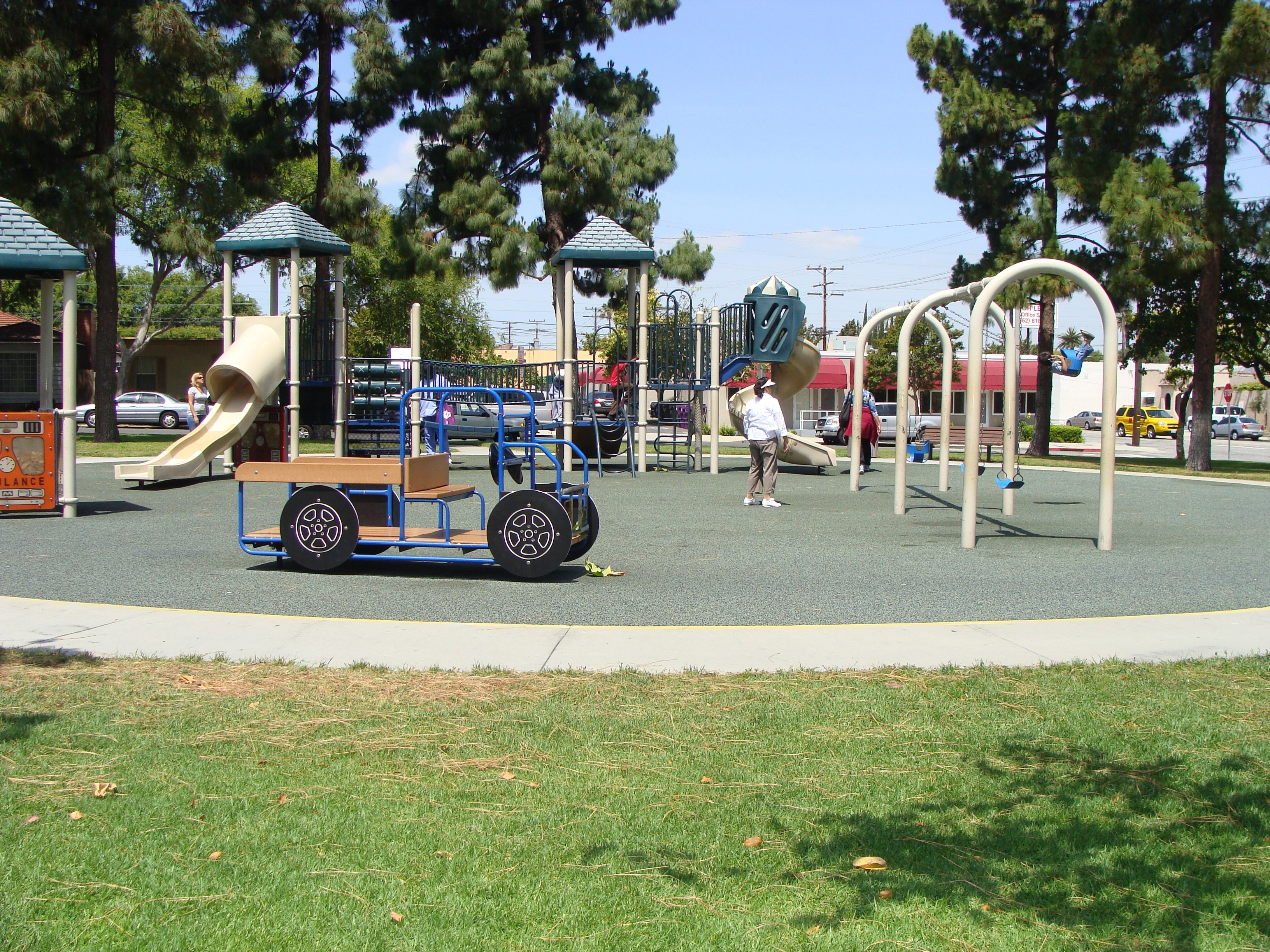 Children playing on the playground at Reservoir Park