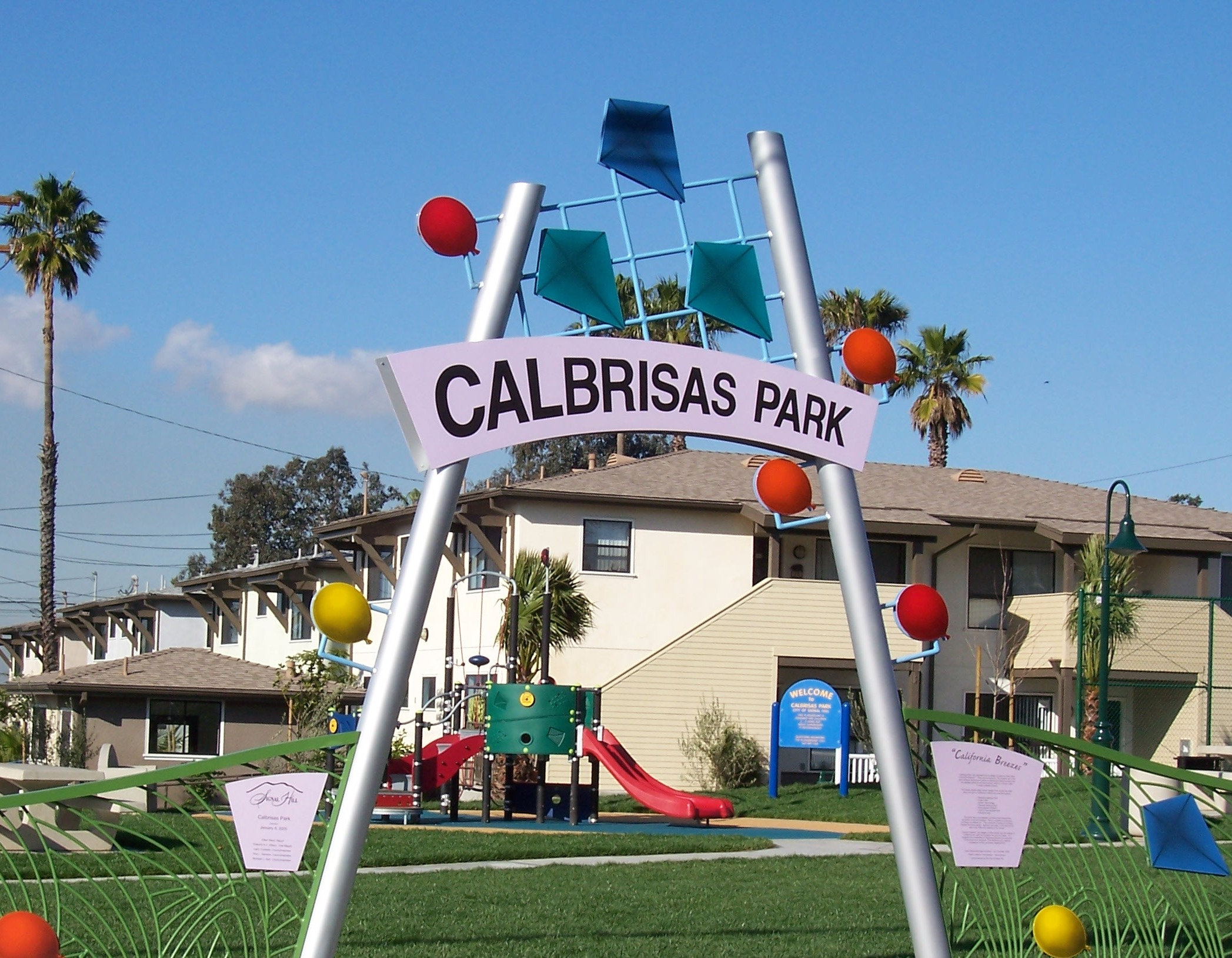 Calbrisas Park entrance sign
